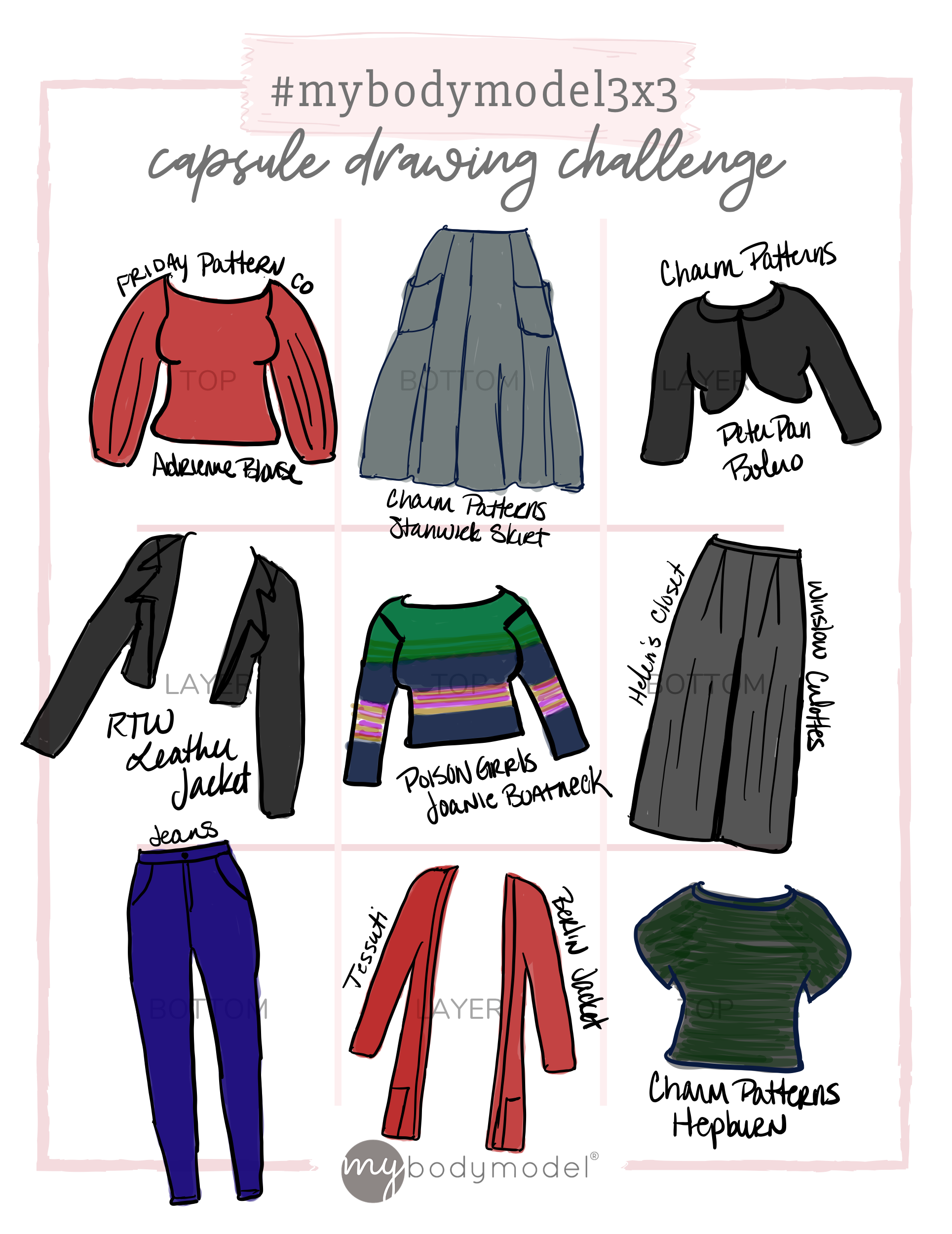Capsule Wardrobe Planning with Croquis